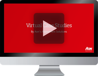 video screen virtual assessment center